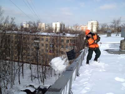 Норматив по уборке снега с крыши здания